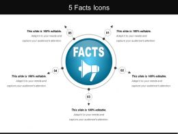 5 Facts Icons Good Ppt Example
