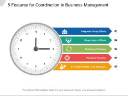 5 Features For Coordination In Business Management