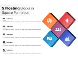 5 Floating Blocks In Square Formation