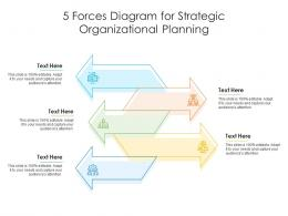 5 Forces Diagram For Strategic Organizational Planning Infographic Template