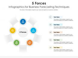 5 Forces For Business Forecasting Techniques Infographic Template