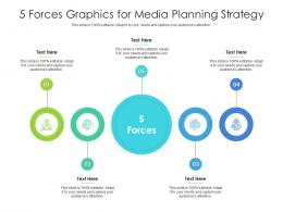 5 Forces Graphics For Media Planning Strategy Infographic Template