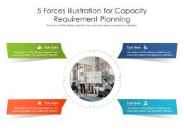 5 Forces Illustration For Capacity Requirement Planning Infographic Template