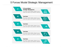 5 Forces Model Strategic Management Ppt Powerpoint Presentation Portfolio Brochure Cpb