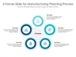 5 Forces Slide For Manufacturing Planning Process Infographic Template