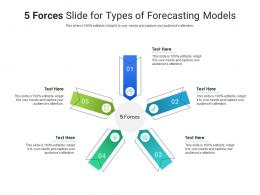 5 Forces Slide For Types Of Forecasting Models Infographic Template