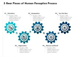 5 Gear Pieces Of Human Perception Process