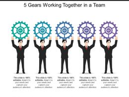 5 Gears Working Together In A Team