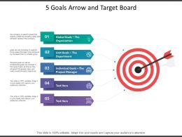 5 Goals Arrow And Target Board