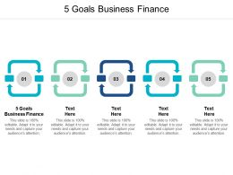 5 Goals Business Finance Ppt Powerpoint Presentation Icon Backgrounds Cpb