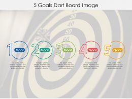 5 Goals Dart Board Image