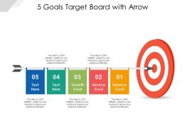 5 Goals Target Board With Arrow