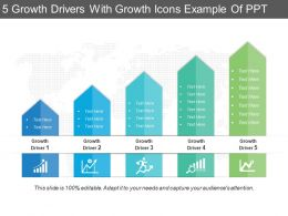 5 Growth Drivers With Growth Icons Example Of Ppt