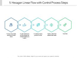 5 Hexagon Linear Flow With Control Process Steps
