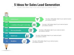 5 Ideas For Sales Lead Generation