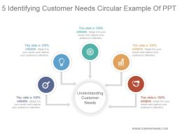 5 Identifying Customer Needs Circular Example Of Ppt