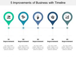 5 Improvements Of Business With Timeline