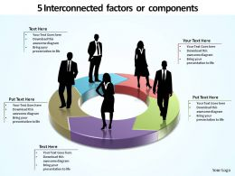 5 interconnected components ppt slides diagrams templates powerpoint info graphics