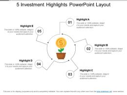 5 Investment Highlights Powerpoint Layout