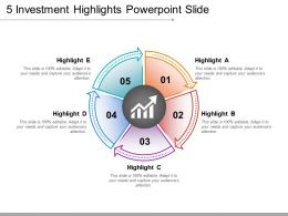 5 Investment Highlights Powerpoint Slide