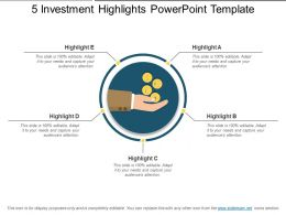 5 Investment Highlights Powerpoint Template
