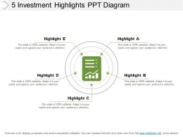5 Investment Highlights Ppt Diagram