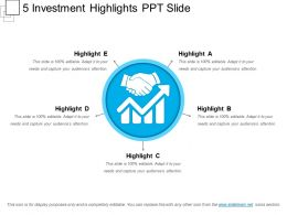 5 Investment Highlights Ppt Slide