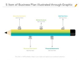 5 Item Of Business Plan Illustrated Through Graphic