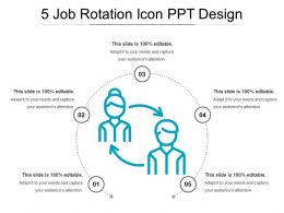 5 Job Rotation Icon Ppt Design