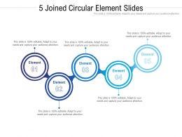 5 Joined Circular Element Slides
