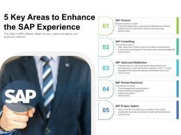 5 Key Areas To Enhance The SAP Experience