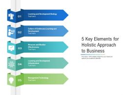 5 Key Elements For Holistic Approach To Business
