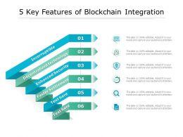 5 Key Features Of Blockchain Integration