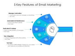 5 Key Features Of Email Marketing