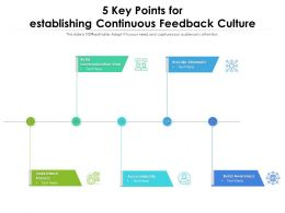5 Key Points For Establishing Continuous Feedback Culture