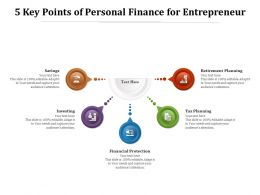 5 Key Points Of Personal Finance For Entrepreneur