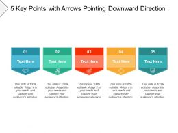5 Key Points With Arrows Pointing Downward Direction