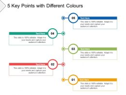 5 Key Points With Different Colours