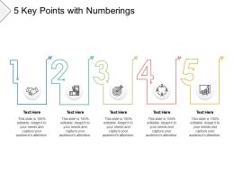 5 Key Points With Numberings