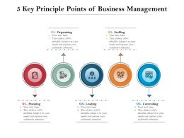 5 Key Principle Points Of Business Management