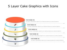 5 Layer Cake Graphics With Icons