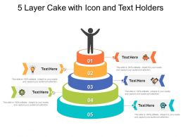 5 Layer Cake With Icon And Text Holders