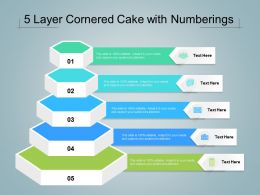 5 Layer Cornered Cake With Numberings