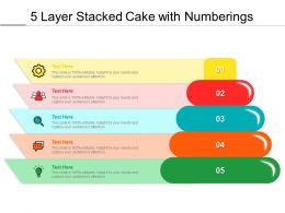 5 Layer Stacked Cake With Numberings