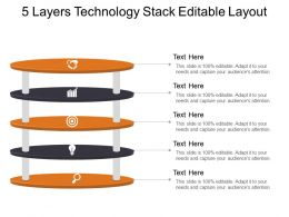 5 Layers Technology Stack Editable Layout