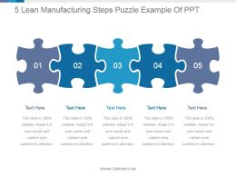 5 Lean Manufacturing Steps Puzzle Example Of Ppt