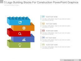 5 Lego Building Blocks For Construction Powerpoint Graphics