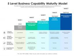5 Level Business Capability Maturity Model