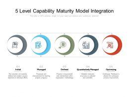 5 Level Capability Maturity Model Integration