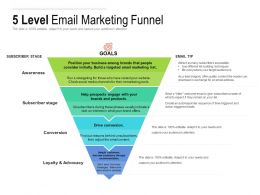 5 Level Email Marketing Funnel